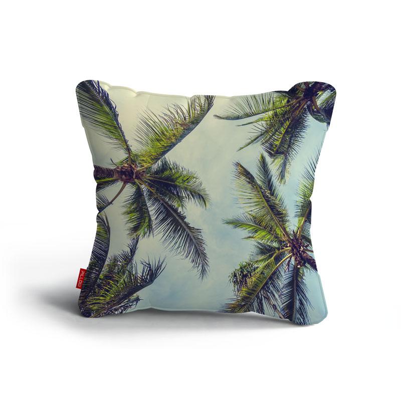 Kissen blue palm